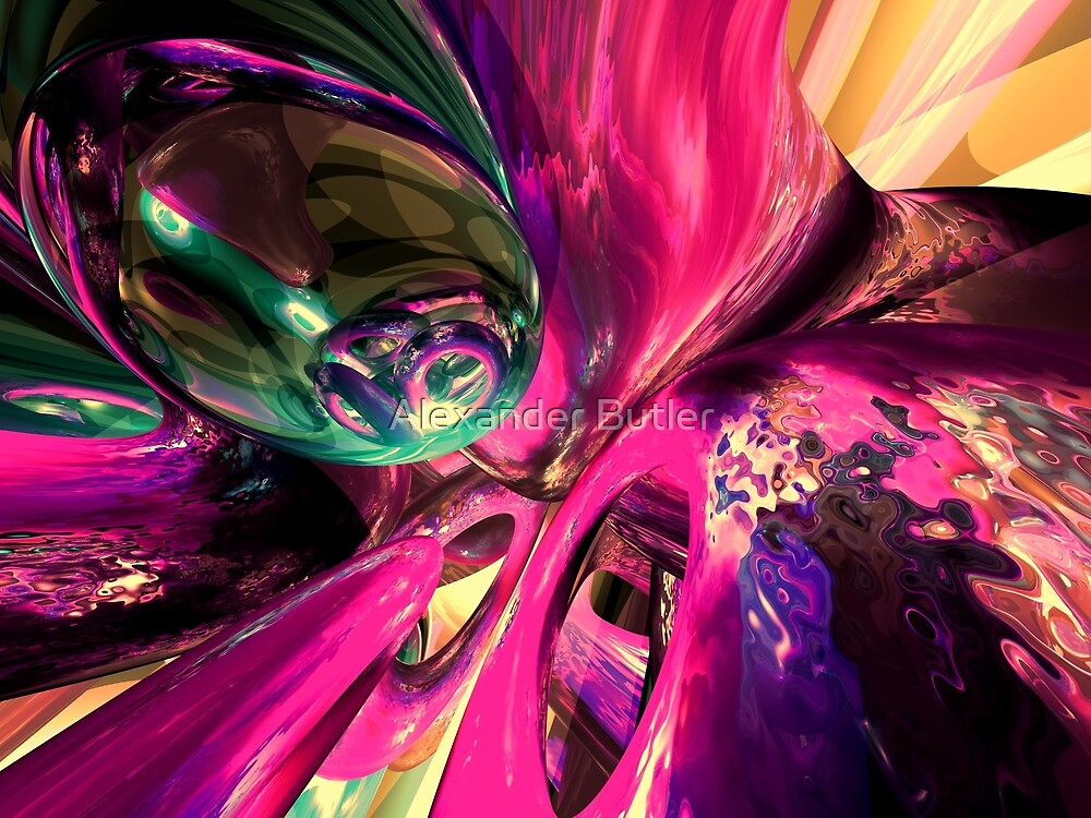 Psychedelic Fun House Abstract by Alexander Butler