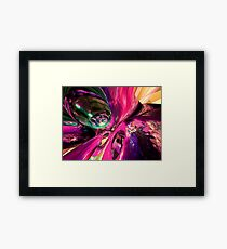 Psychedelic Fun House Abstract Framed Print