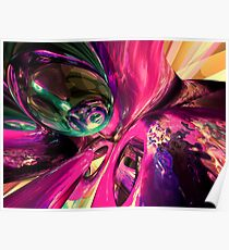 Psychedelic Fun House Abstract Poster