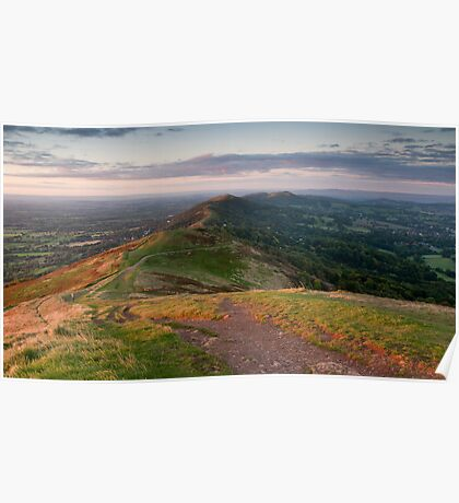 From Worcestershire to Herefordshire, Malvern Hills, England Poster