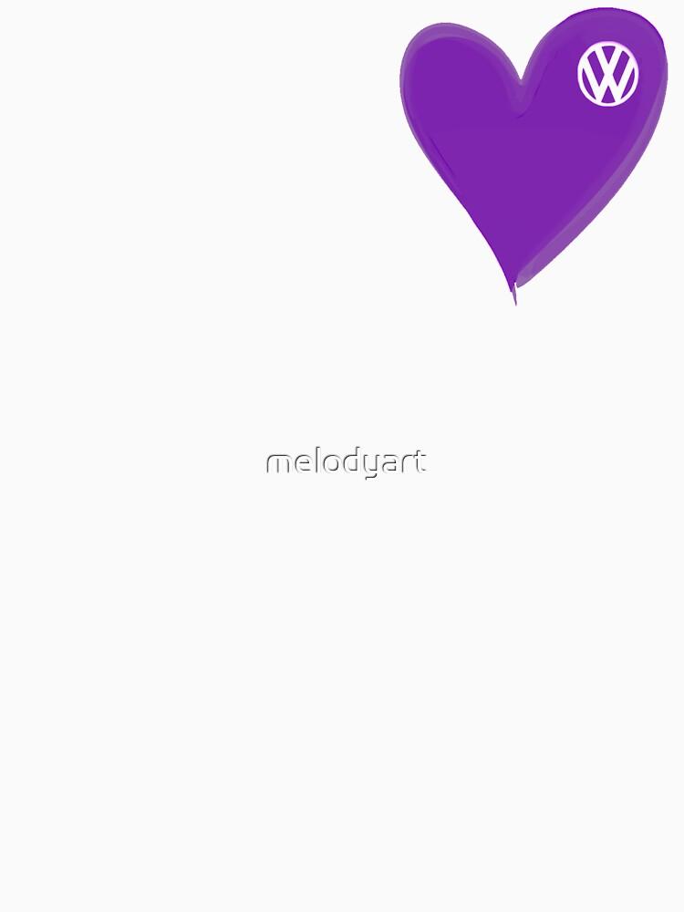 TShirtGifter presents: VW Dark Purple Heart  | Women's T-Shirt