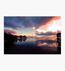 Nudgee Beach Sunrise. Brisbane,  Queensland, Australia. Photographic Print