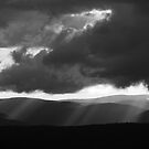 Light over hills by PeterDamo