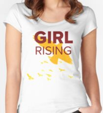 Girl Rising Fitted Scoop T-Shirt