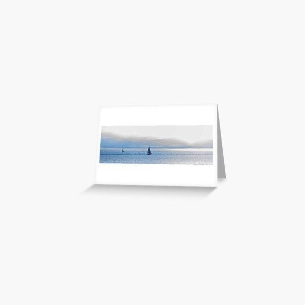 Sailing on the Menai Straits, North Wales Greeting Card