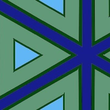 Green and blue triangles: repeating pattern by incurablehippie