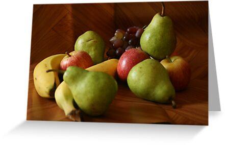 Fruit Still Life by Dawid Groenenstein