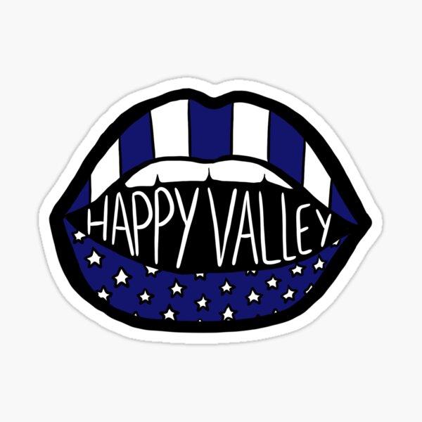 Happy Valley - Star Stripe Lips Sticker