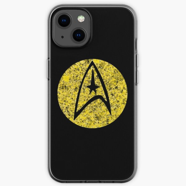 Star Trek TOS Command Gold Insignia Paint Splatter iPhone Soft Case