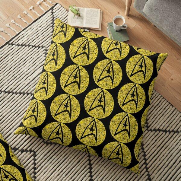Star Trek TOS Command Gold Insignia Paint Splatter Floor Pillow