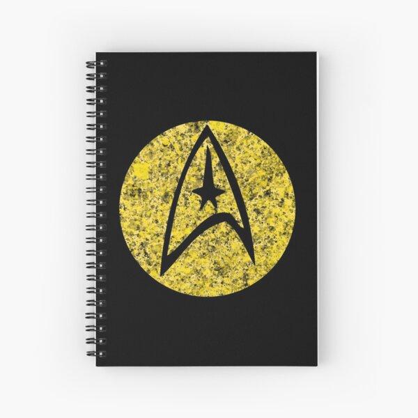 Star Trek TOS Command Gold Insignia Paint Splatter Spiral Notebook