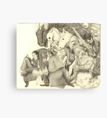 The Adventure of Reading (Girl version) Canvas Print