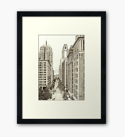 Downtown Oklahoma City Framed Print