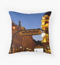 Metro de Paris Throw Pillow