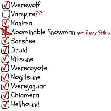 List of Supernatural in Beacon Hills by Clarityandsimpl