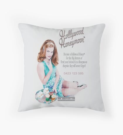 Hollywood Honeymoon™ Poster Throw Pillow