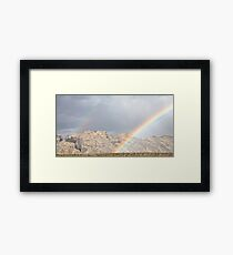 Split Mountain Rainbows Close-up Framed Print