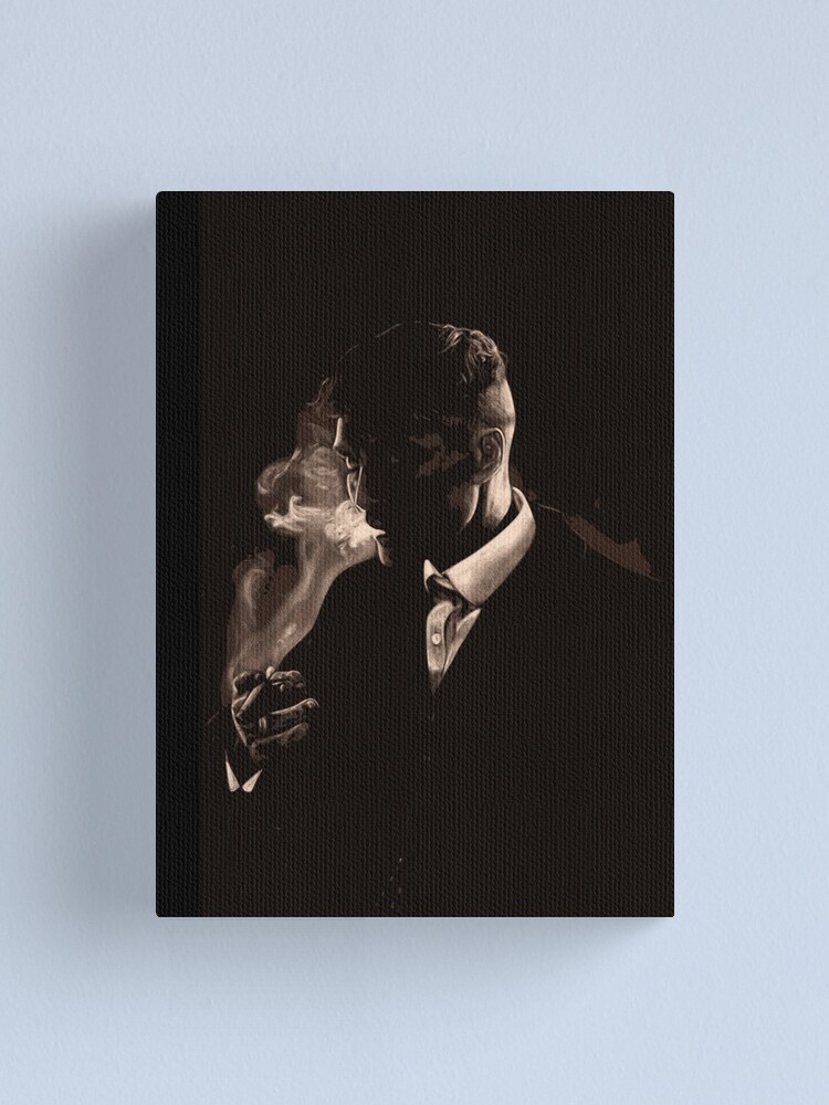 Alternate view of Tommy Shelby Smoking a Cigarette Canvas Print