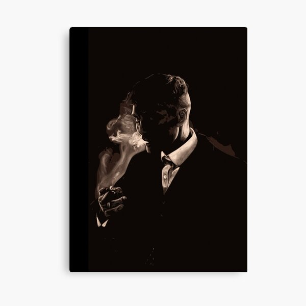 Tommy Shelby Smoking a Cigarette Canvas Print