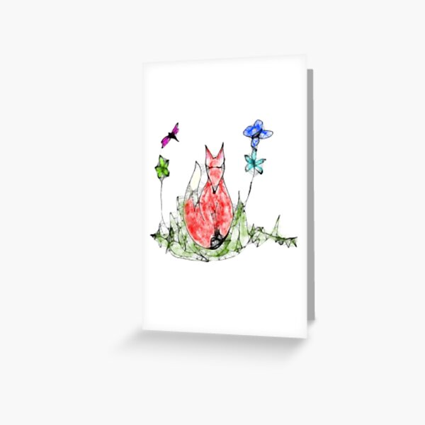 Fox Scribbler Greeting Card