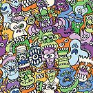 Halloween stars get crazy and voracious in a spooky pattern design by Zoo-co