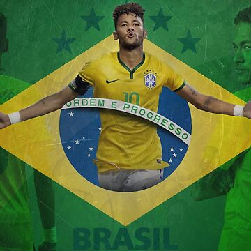 Brazil Neymar Poster Design by NPDesigns