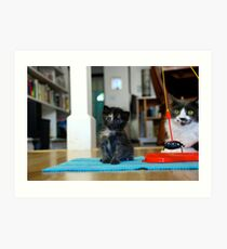 Playtime - Olivia Clover and Pepperpot take a Break Art Print
