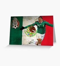 Mexican flag greeting cards redbubble chicharito mexico poster design greeting card m4hsunfo