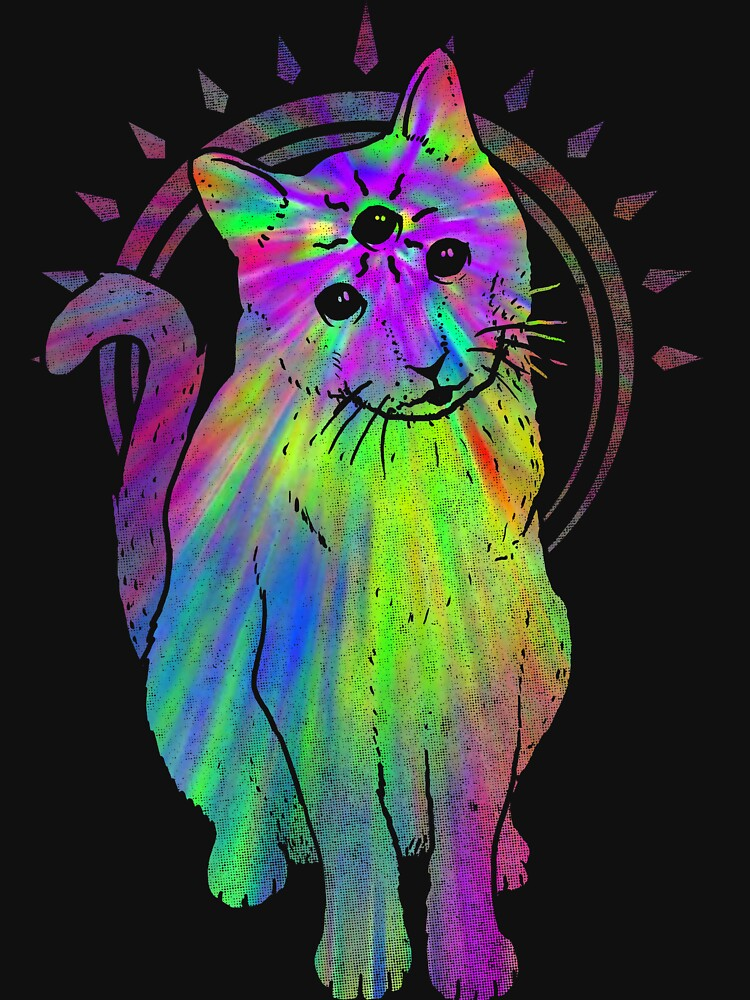 Psychic Psychedelic Cat by biotwist