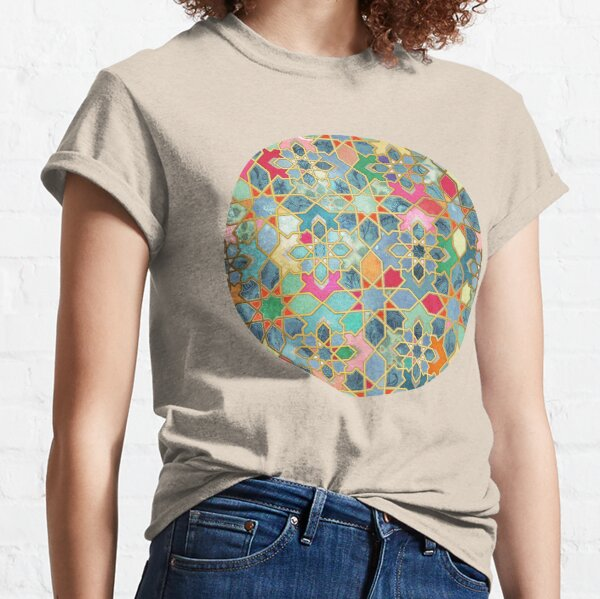 Gilt & Glory - Colorful Moroccan Mosaic Classic T-Shirt