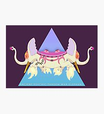 Ancient Psychic Tandem War Elephant Photographic Print