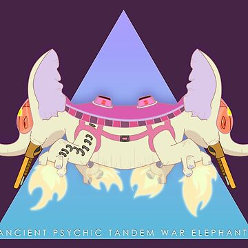 Ancient Psychic Tandem War Elephant by briteddy