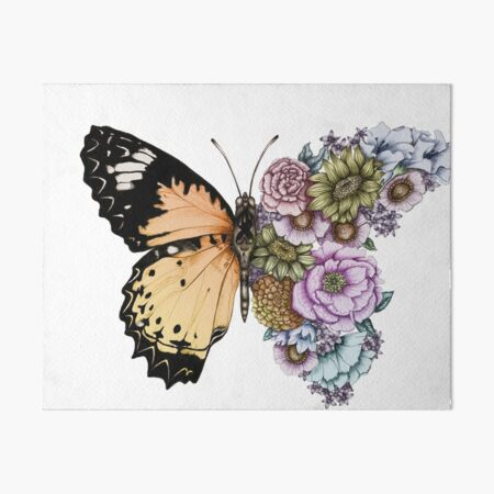 Butterfly in Bloom II Art Board Print