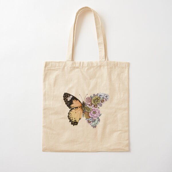 Butterfly in Bloom II Cotton Tote Bag