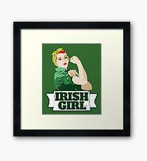 Lámina enmarcada Chica irlandes