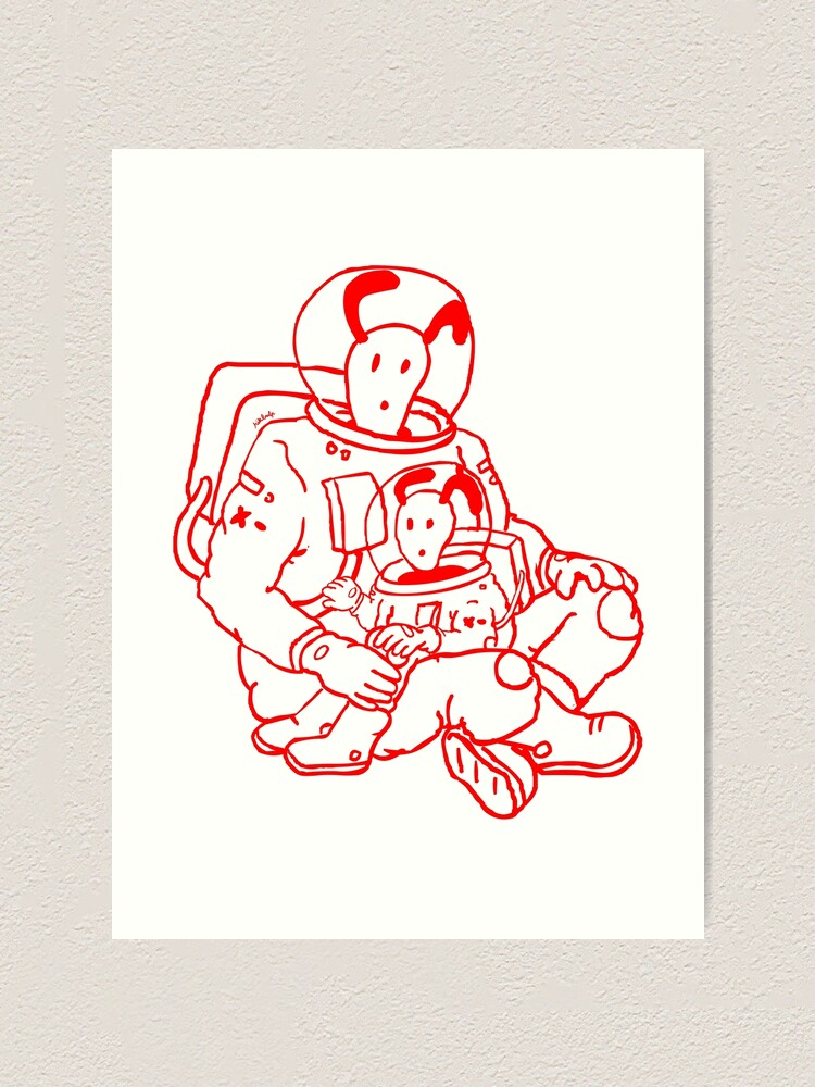Alternate view of father & son Art Print