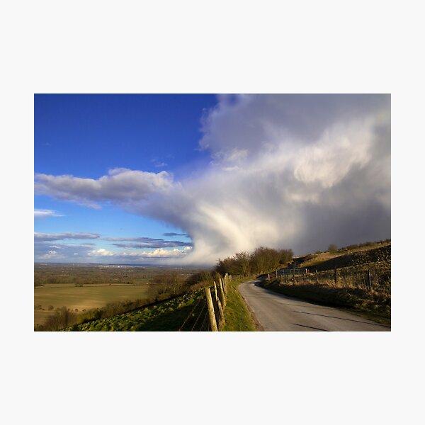 Storm passing Inkpen Beacon Photographic Print