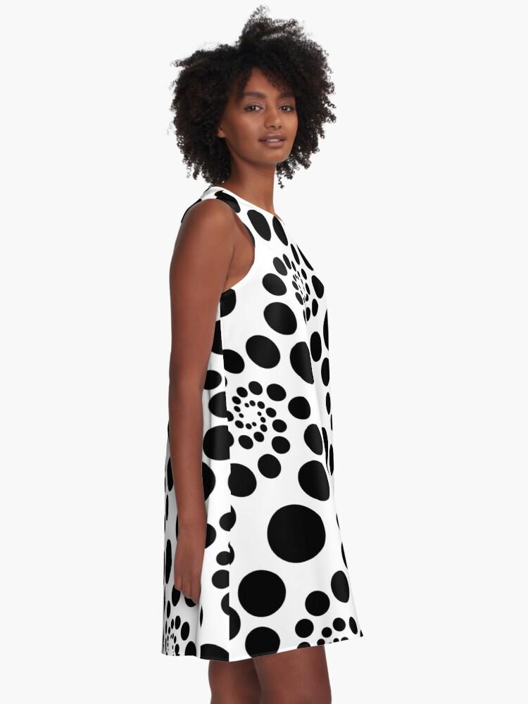 Alternate view of seamless dots  A-Line Dress