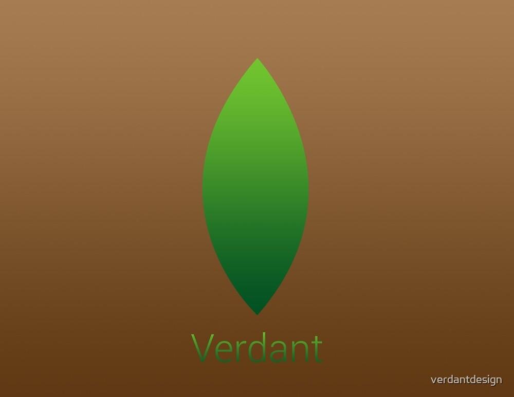 Verdant Logo (Brown with Text) by verdantdesign