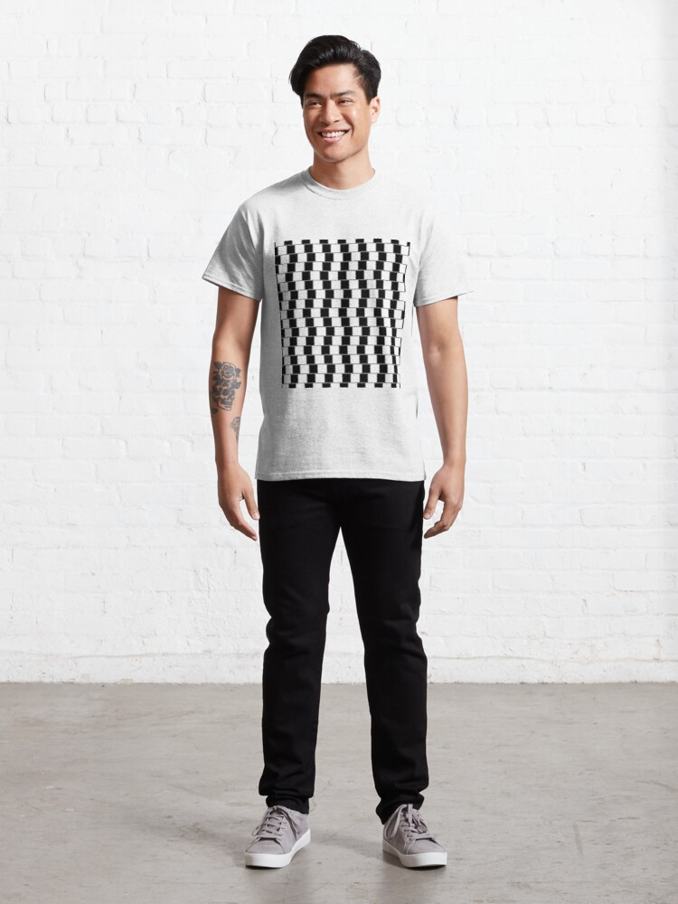 Alternate view of Visual Illusion #VisualIllusion Optical #OpticalIllusion #percept #reality Classic T-Shirt