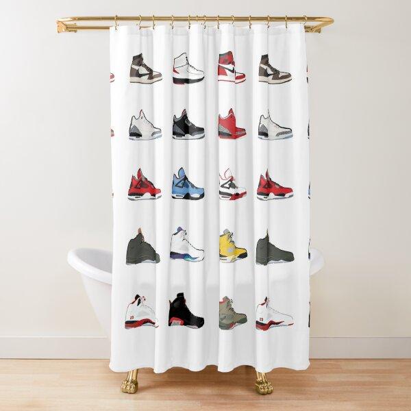 Jordan Retro Collection Shower Curtain