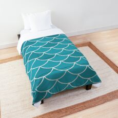Sapphire Fish Scales Comforter