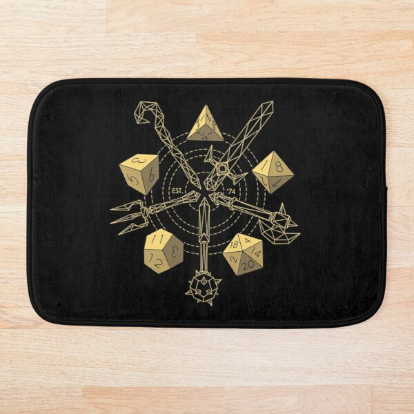Dungeons & Dragons - Choose Your Weapon Bath Mat