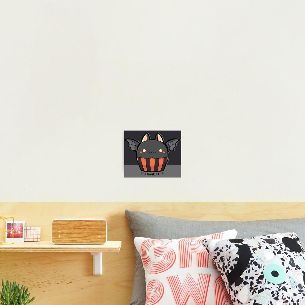 Halloween Bat CupCake - 2019 Photographic Print