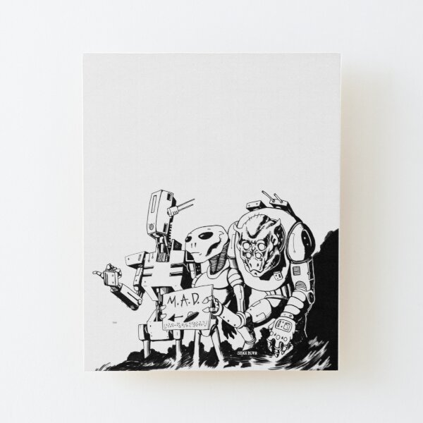 Monsterz Tea Party by SEAN BOVA Wood Mounted Print