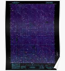 USGS Topo Map Oregon Oregon Caves 280998 1986 24000 Inverted Poster