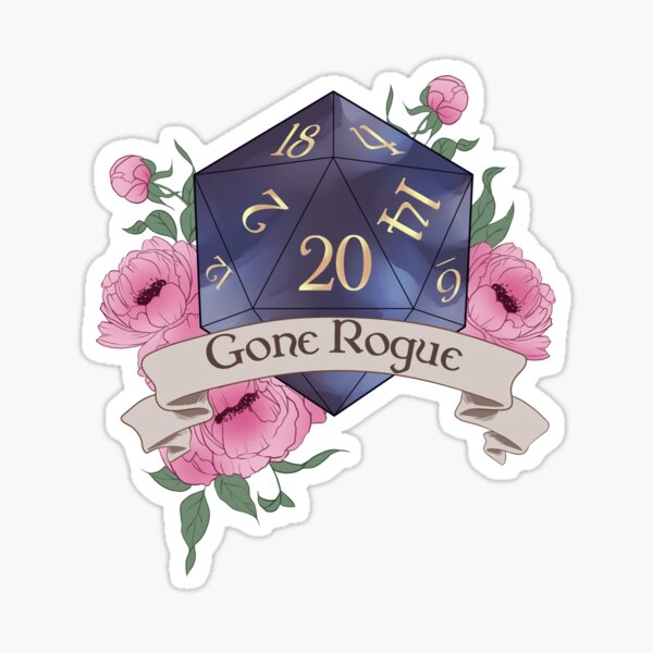 Dungeons and Dragons Dice Gone Rogue Sticker