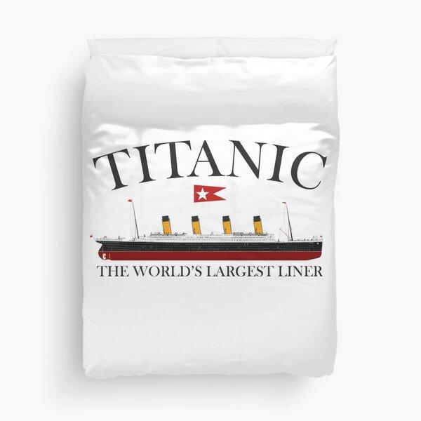 Titanic. 1912, RMS Titanic, Cruise, Ship, Disaster. Duvet Cover