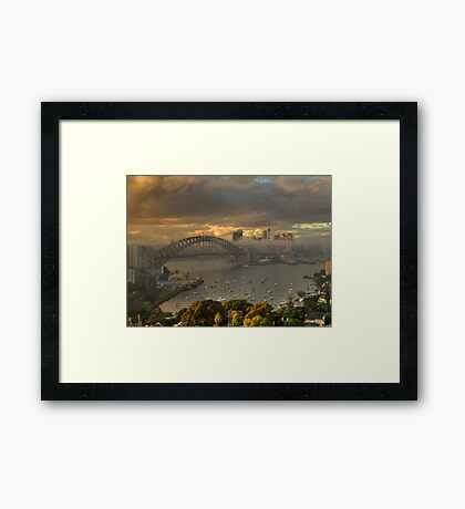 Loneliness - Moods Of A City, Sydney Harbour - The HDR Experience Framed Print