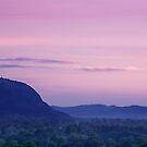 Breidden Hill at dusk by Paul Whittingham